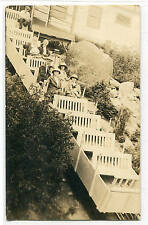 Incline Railcar at Summit Mt Manitou Colorado RPPC Real Photo postcard