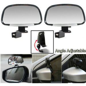 Universal 180 Degree Adjustable Car Blind Spot Side Rear View Wide Angle Mirrors
