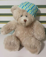 TEDDY AND FRIENDS TEDDY BEAR IN NIGHT CAP GREEN AND BLUE 30CM!