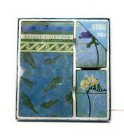 "Bridge Playing Cards w Score Pad SET, ""Spring Poetry"", Flowers, Jumbo Index, NEW"