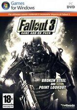 Fallout 3 Game Add-on Pack Broken/Point Pc Ottima Stampa Italiana con manuale