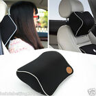 Car Seat Headrest Pad Memory Foam Pillow Head Neck Rest Support Cushion Black