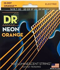DR Handmade NOE7-10 Neon ORANGE Electric Guitar Strings 7-string set gauge 10-56