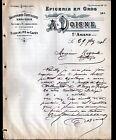 """SAINT-AMAND-MONTROND (18) EPICERIE & CONFISERIE en gros """"A. DOISNE"""" en 1908"""