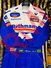 F1 Racing Ayrton Senna Rothmans 1994 Printed  Suit