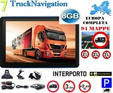 "NAVIGATORE CAMION 7"" GPS IVECO MAPPA EUROPA 88 Z. INDUSTRIALI/INTERP. 05/2017"