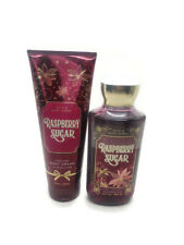 bath and body works raspberry sugar body cream and shower gel set