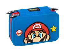 Panini Super Mario Bross Astuccio con 3 Cerniere - Blu