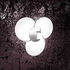 Applique in vetro bianco cromato moderno a 3 luci tpl 1114/45-CR