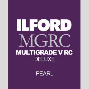 Ilford Multigrade V RC Deluxe Pearl - 8x10 Darkroom Printing Paper - 25 Sheets