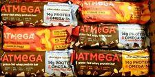 43 OATMEGA GRASS FED WHEY 14g PROTEIN BAR NUTRITION ENERGY BAR GLUTEN FREE S/H!