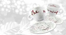 """ILLY Art Collection - """"The Morning"""" by Alanis Morissette - 2 Espresso Cups + DVD"""