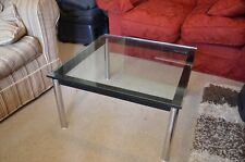 Brand new tempered glass aluminium stunning coffee table 11.8mm thick glass