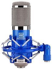 Profi Studio Mikrofon Kondensator Gesangsmikrofon XLR Microphone Spinne Blau
