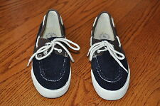 Womens RALPH LAUREN Brown/Navy Blue Athletic Cordoroy Shoes Size 6 M ~NICE~