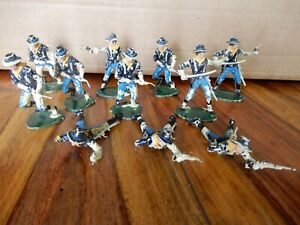 11 painted Airfix 7th Cavalry Plastic soldiers
