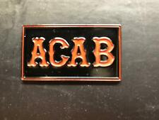 new ACAB Metal patch BADGE FOR FOOTBALL FANS , 1%ER - Bikers ACAB pin badge