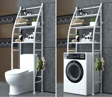 Scaffale Bagno sopra WC Lavatrice Salvaspazio 3 Ripiani Mobile - Bianco