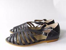Latigo  Moshi  Women's Black Leather Strappy Slingback Sandals, size 6.5