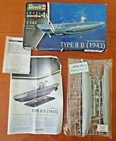 REVELL German Submarine Type IIB (1943) 1:144 Ship Model Kit 05155
