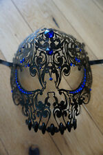 Black Venetian Styled face mask. Masquerade/halloween/party/prom mask.Freepost.