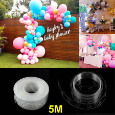 Unique 5M Balloon Arch Decor Strip Connect Chain Plastic DIY Tape Party New Hot