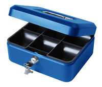 8 Inch Petty Cash Box Metal Security Money Safe Tray Holder Key Lockable Lock