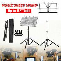 Adjustable Folding Sheet Music Stand Concert Score Holder Mount Tripod Carry Bag