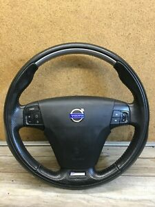 VOLVO V50 S40 C30-DESIGN BLACK LEATHER MULTI FUNCTION STEERING WHEEL SV5515000