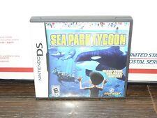 Sea Park Tycoon (Nintendo DS, 2010) CARTAGE & CASE, NO MANUAL