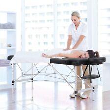 Aluminum Adjustable Massage Table Portable Folding Salon Bed Spa Table Black