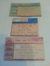 Lot 3 Grateful Dead 1991 ConcertS Ticket Stubs East Ruth NJ Chigago-Denver CO