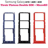 Pour Samsung Galaxy A10/A20/A30 Tiroir Support Lecteur Double Carte SIM+Micro SD