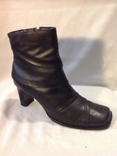 Barratts Black Ankle Leather Boots Size 4