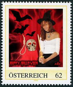 U) Personalized stamp halloween witch bat skull hangman rope dagger AUSTRIA 2012