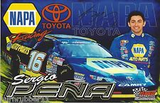 "SIGNED 2013 SERGIO PENA #16 ""NAPA AUTO PARTS"" NASCAR K&N PRO SERIES B/B POSTCARD"