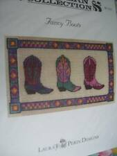 Western Collection Fancy Boots Canvaswork Chart Perin 220x125 Stitches Cowboy Bo