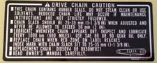 HONDA CBR900RR FIREBLADE DRIVE CHAIN CAUTION WARNING LABEL DECAL