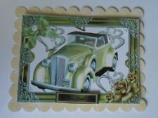 PACK 2 WHITE VINTAGE CAR TOPPER EMBELLISHMENTS  FOR CARDS AND CRAFTS
