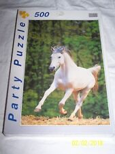 New ~ Galloping White Horse ~ Party Puzzle ~ 500 pieces