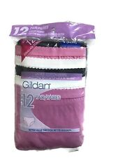 Gildan Women's Briefs 100% Cotton Panties 12-Pack Value Sizes 5-8