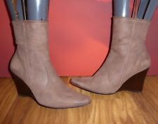*A5* Superb  NEXT brown leather ankle  boots  wedge shoes EU 41 UK 7