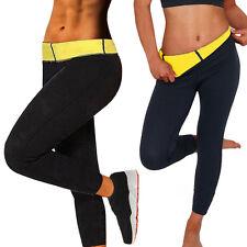 Womens Hot Thermo Sweat Neoprene Body Shaper Pants Yoga Slimming Bottom UK L768