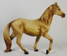 FAUX WOOD CARVING HORSE FIGURE Statue Animal Art NEW Stallion Mare Pony Equine
