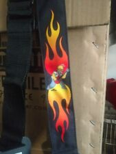 The Simpsons  HOMER IN FLAMES GUITAR STRAP free USA SHIPPING nwot