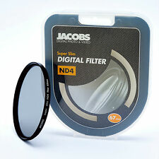 JACOBS 67mm ND4 SUPER SOTTILE NEUTRAL DENSITY Filtro per NIKON CANON SONY NUOVI PRO