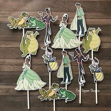 12- PRINCESS and the FROG Cupcake Cake Toppers / Birthday Party Decorations