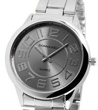 Damen Armbanduhr Grau/Silber Metallarmband von Donna Kelly