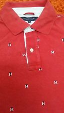 tommy hilfiger polo tshirt rare full logo TH size s