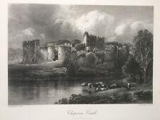 1875 antica stampa; Chepstow Castle, Galles del Sud dopo E.M. wimperis